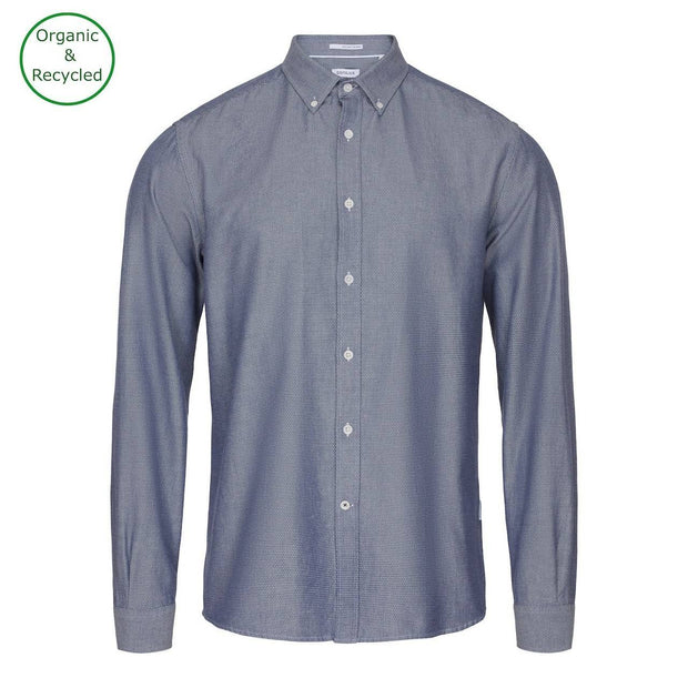 CONSJUS MENS BUTTONDOWN SHIRT BLUE DOT REGULAR FIT