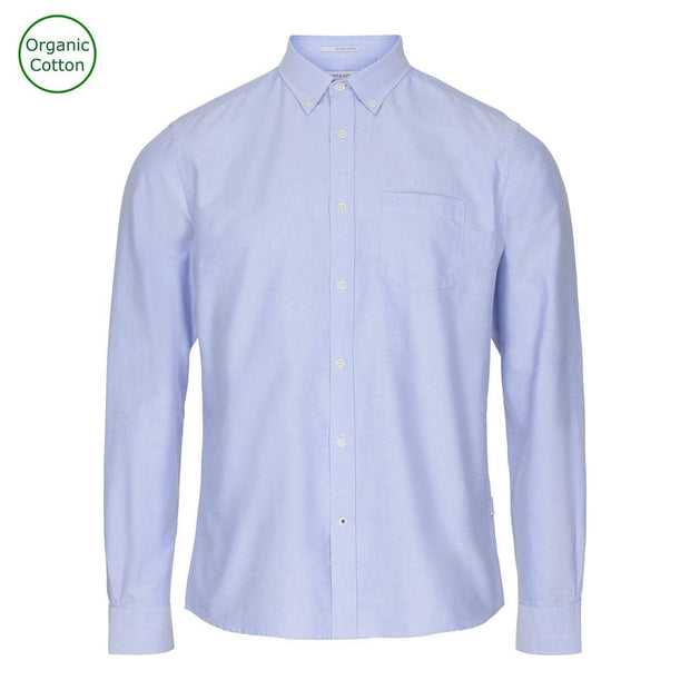 CONSJUS MENS OXFORD SHIRT LIGHT BLUE REGULAR FIT