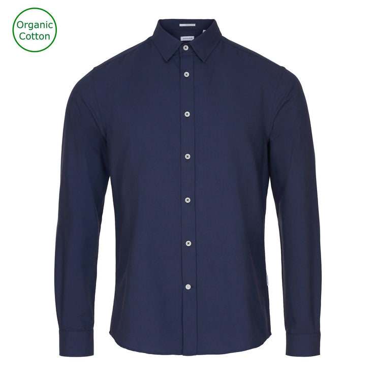 CONSJUS MENS OXFORD SHIRT NAVY SLIM FIT
