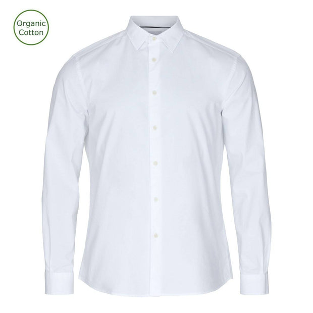 CONSJUS MENS CUTAWAY SHIRT WHITE REGULAR FIT