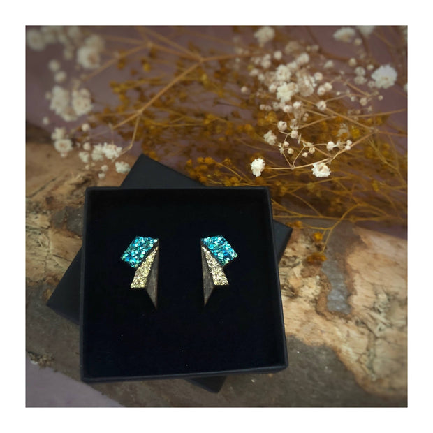 Small Wings Turquoise & Gold