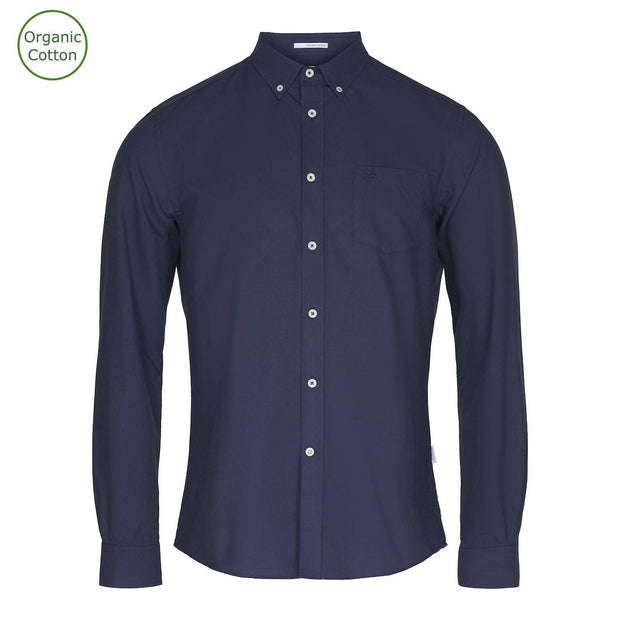CONSJUS MENS OXFORD SHIRT NAVY REGULAR FIT