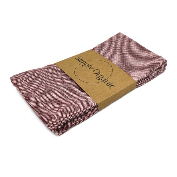 Simply Organic Oxford Viskestykker Brick Red 2stk pak