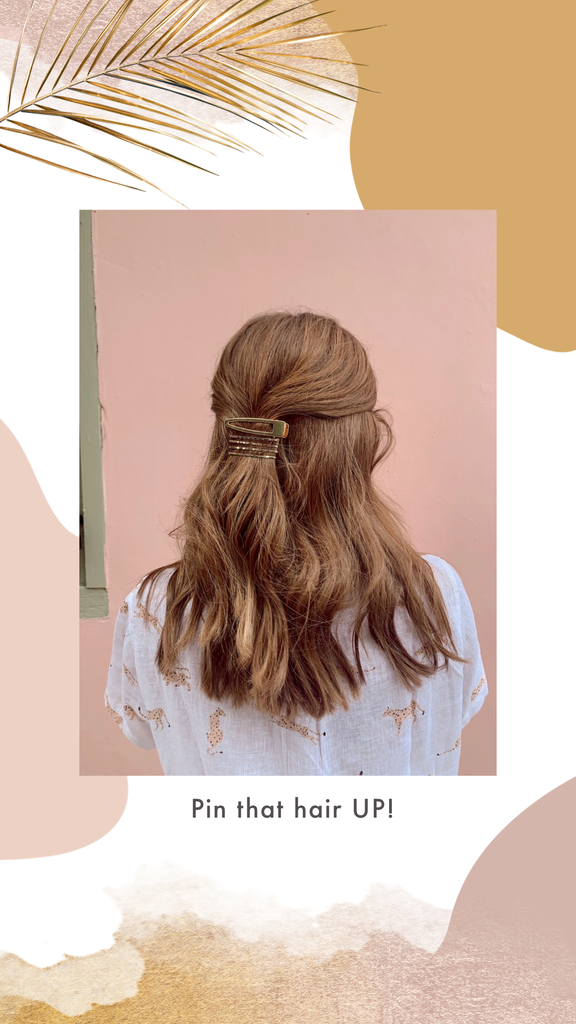 how to style dirty hair with hair clips
