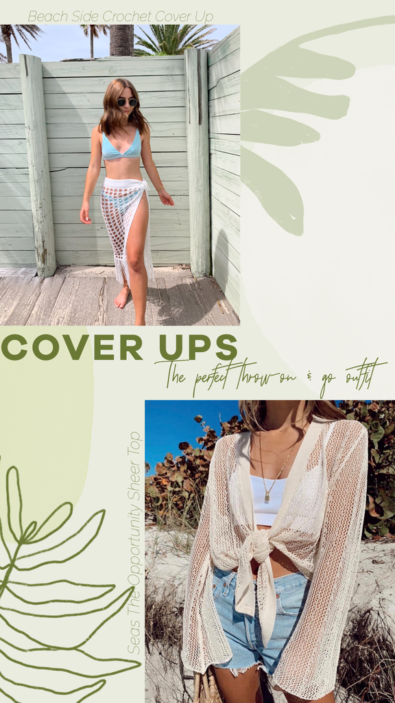 summer sheer cover up skirt and top