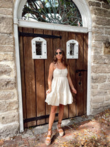 womens eyelet mini dress