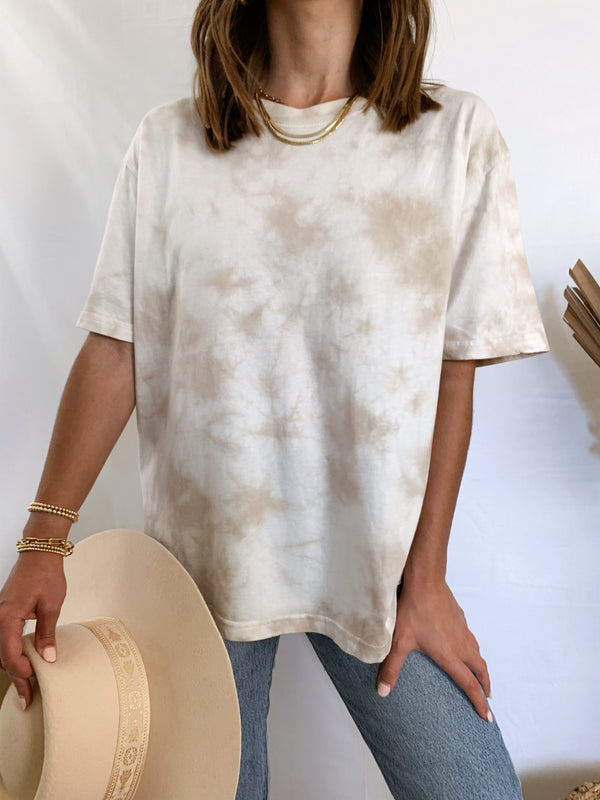 Women's neutral tie dye shirt