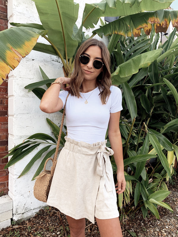 Vacay Ready Linen Skort - FINAL SALE