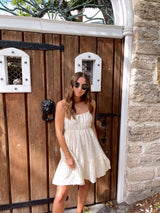 womens eyelet babydoll dress