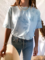 Women's Blue tie dye shirt