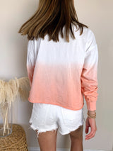 Pink ombre long sleeve top