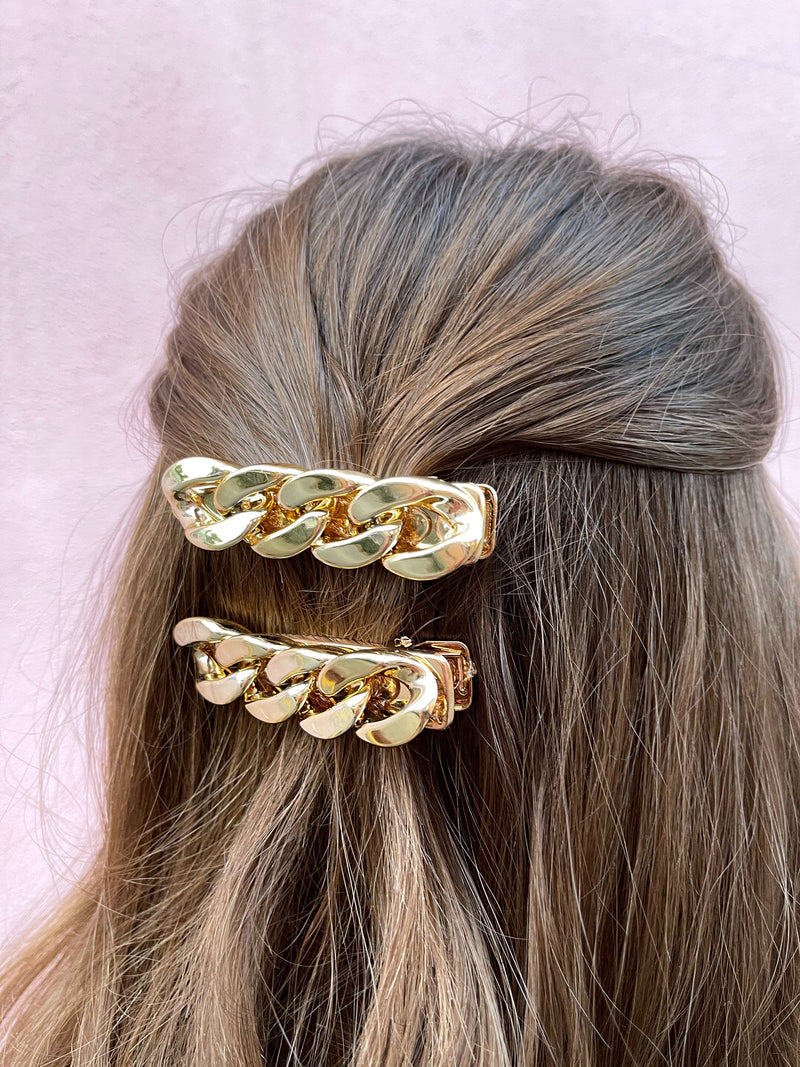 Golden Chain Hair Clip