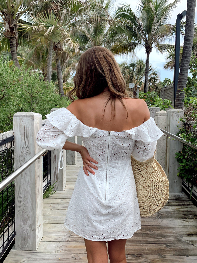 Sweet Honey Eyelet Dress - FINAL SALE