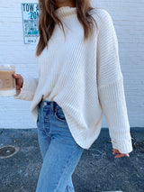 womens ivory chenille knit sweater