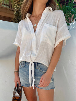 linen top, summer linen top, short sleeve linen top, short sleeve summer top, vacation white top, white linen top, white cotton top
