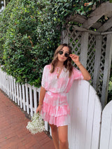 womens trendy boho pink tie dye dress