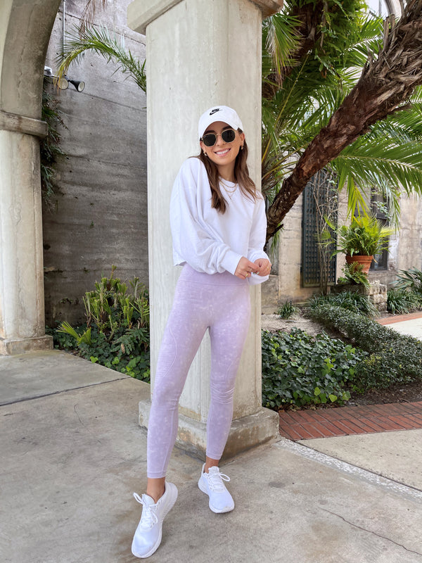 womens lavender seamless leggings