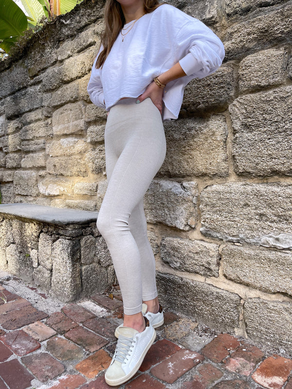 seamless neutral high waisted leggings