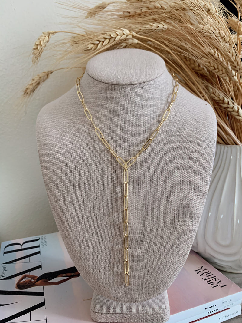 womens gold link necklace