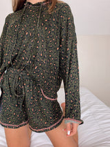 womens trendy leopard loungewear set