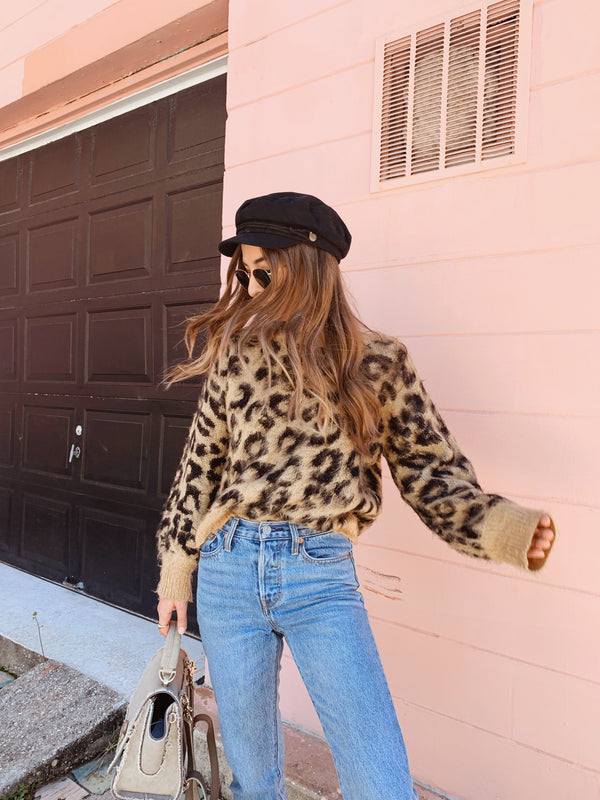 On The Spot Leopard Sweater