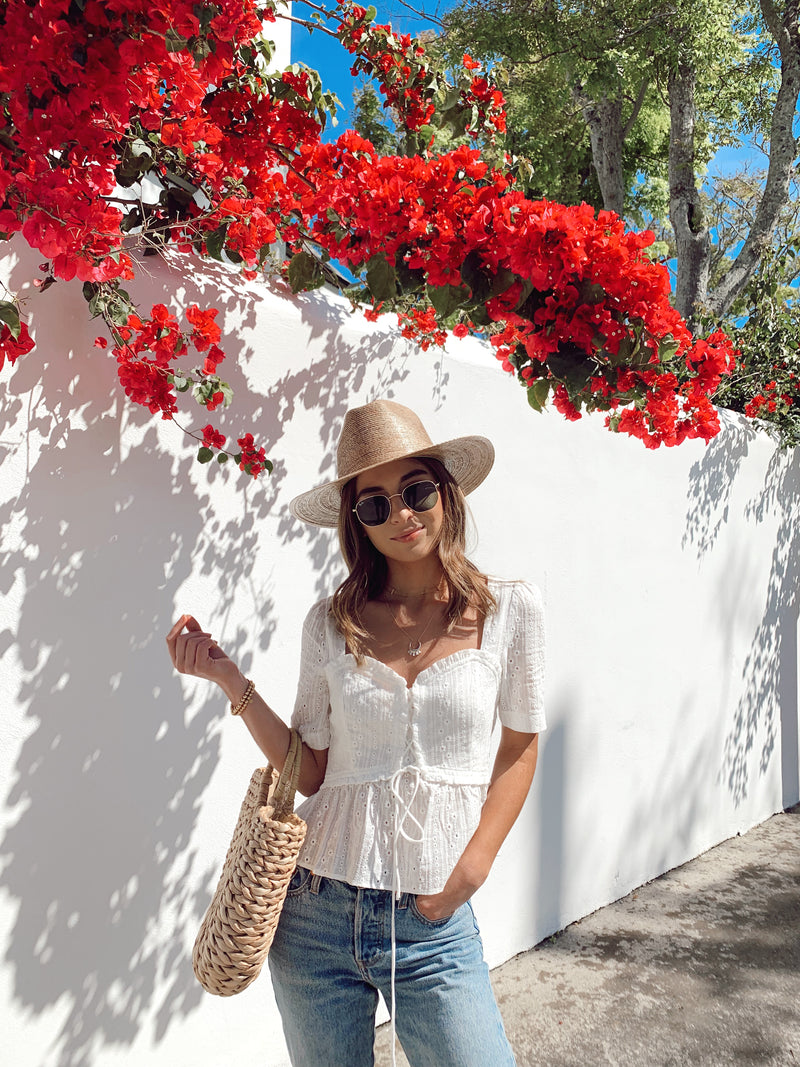 Sweet Sunshine Eyelet Top