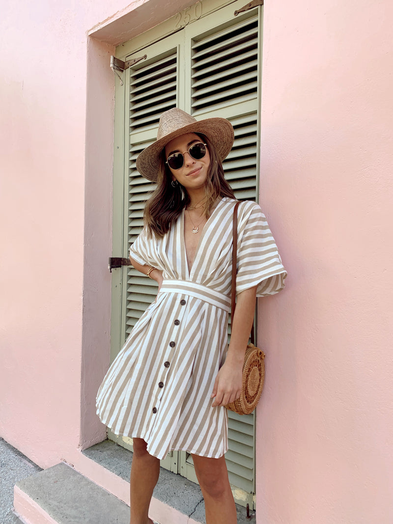 Out Of Office Striped Dress - FINAL SALE