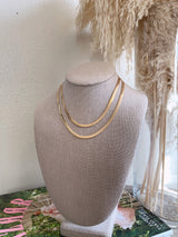 gold herringbone necklace with extender
