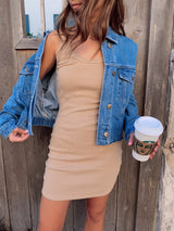 womens trendy nude tank top dress
