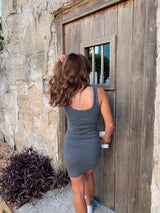 womens grey tank dress