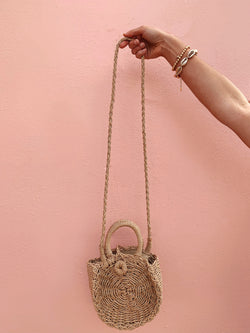 Women's mini straw bag circle crossbody bag, affordable straw bag
