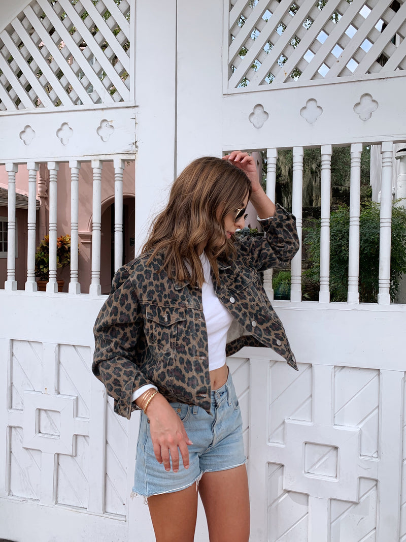 leopard denim jacket, leopard jacket, womens leopard jacket, womens denim leopard jacket, cheetah denim jacket, cheetah jacket