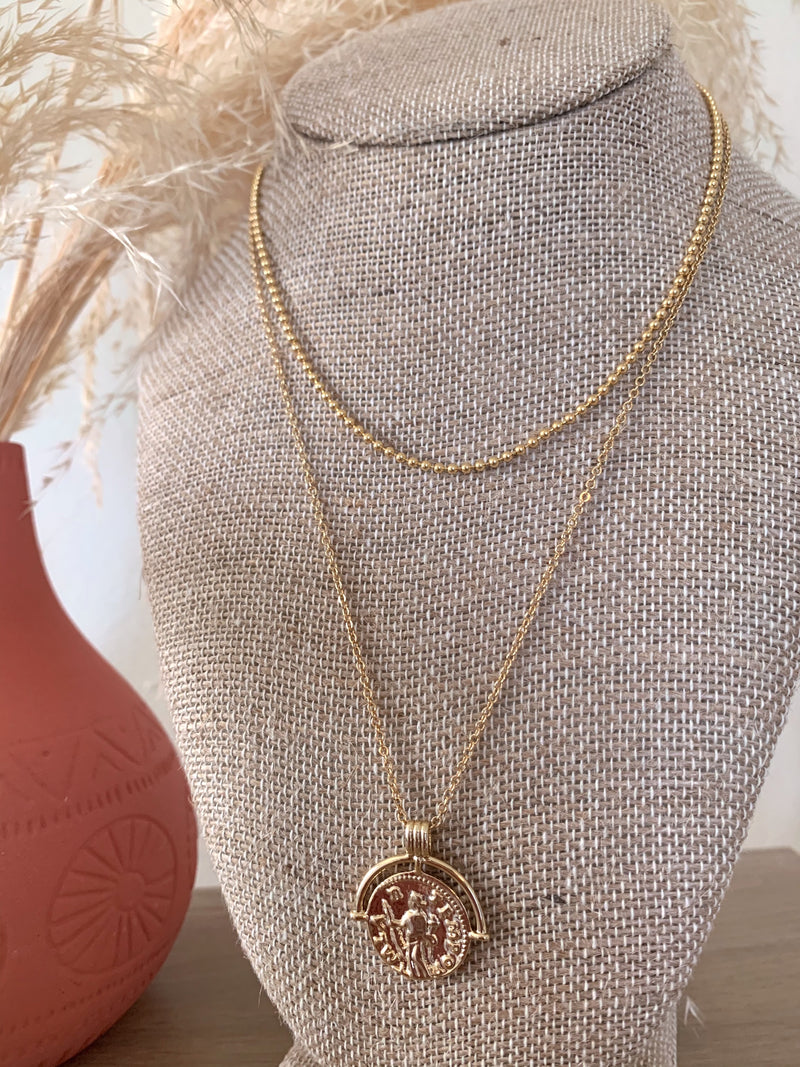 gold pendant necklace set