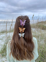 womens butterfly hair clips