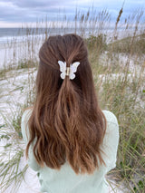 womens white butterfly hair clip