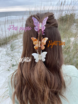 womens pretty butterfly hair clips