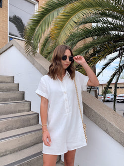 White Cotton Romper