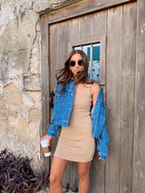 womens nude tank top dress