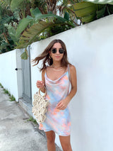 womens tie dye slip dress