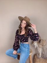 First Impression Floral Crop Top