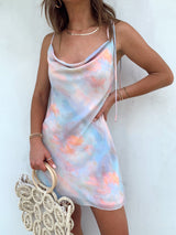 pastel tie dye mini dress