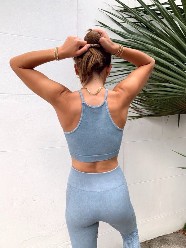 womens pastel blue activewear set