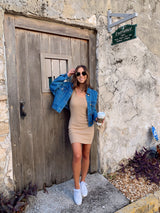 womens nude tank dress