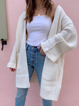 womens ivory oversized cardigan