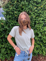 womens cotton leopard print face mask