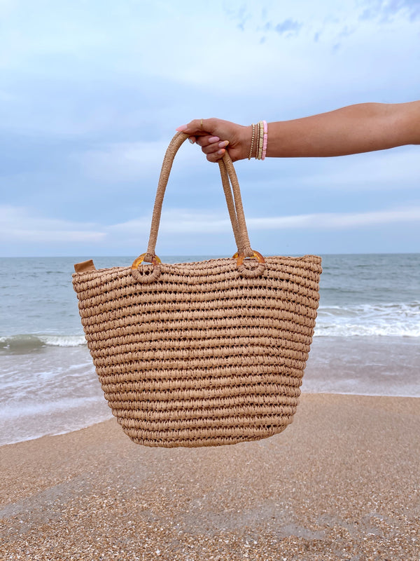 Beachside Straw Tote Bag
