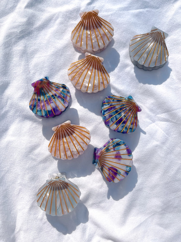 womens seashell hair clips