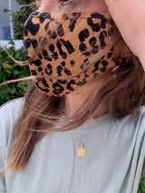 womens leopard print face mask