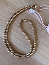 gold beads facr mask chain