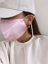 womens trendy pearl mask chain